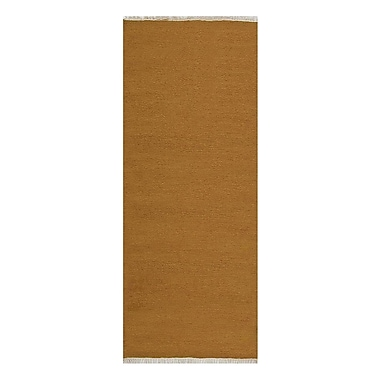 Bloomsbury Market Creasman Contemporary Hand-Woven Wool Gold Area Rug; Runner 2' 6'' x 10'
