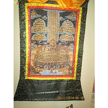 Bloomsbury Market 'Buddhist Art Thangka' Graphic Art Print on Wrapped Canvas