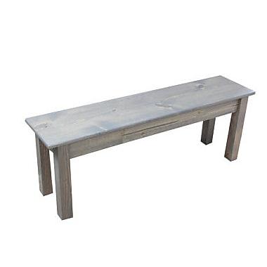 Bungalow Rose Arrowpoint Wood Bench; 42'' W