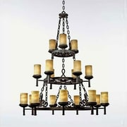 Loon Peak Mendoza 18-Light Candle-Style Chandelier