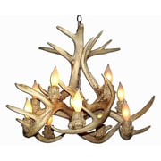 Loon Peak Doliya Antler Whitetail Inverted 10-Light Candle-Style Chandelier