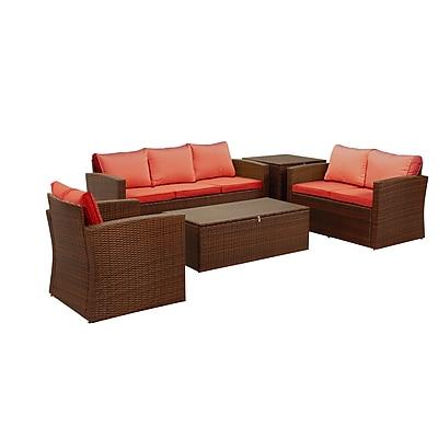 Ivy Bronx Quebec Weather Resistant 5 Piece Conversation Set w/ Cushions (Set of 5)