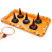Kovot 12 Piece Halloween Witch Hat Ring Toss Inflatable Game Set