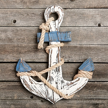Breakwater Bay Distressed Look Anchor Wall D cor