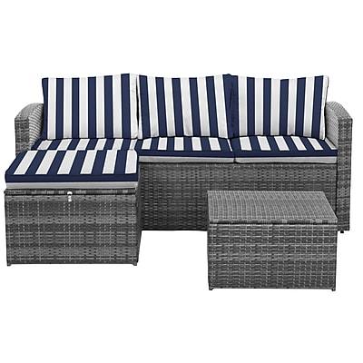 Breakwater Bay Ridgemoor Conversation Set w/ Cushions (Set of 3)