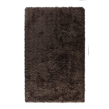Ivy Bronx Cavallo Solid Brown Area Rug