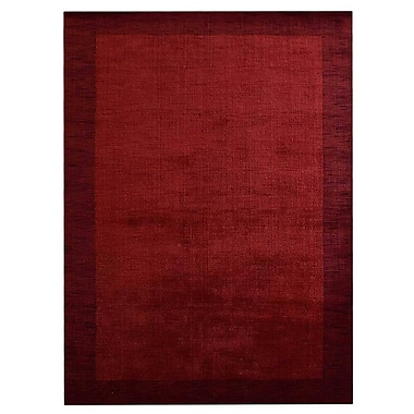 Latitude Run Darion Contemporary Hand-Knotted Wool Red Area Rug; 9' x 12'