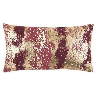 Ivy Bronx Caudle Decorative 100pct Cotton Lumbar Pillow; Wine