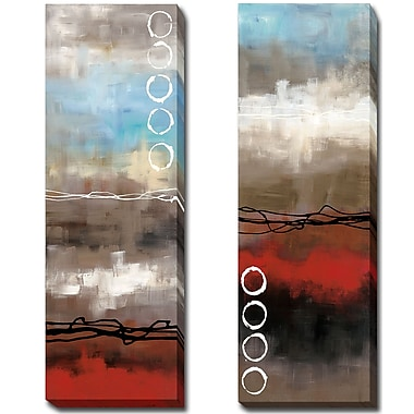 Latitude Run 'Elements I and II' 2 Piece Print Set on Wrapped Canvas; 36'' H x 24'' W