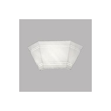 Latitude Run Hooley Faux Alabaster Bevel Pocket Systems 1-Light Flush Mount