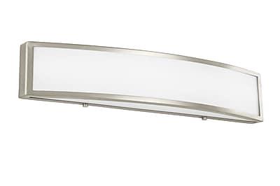 Orren Ellis Leahy LED 1-Light Bath Bar; 4.75'' H x 25'' W x 3.5'' D