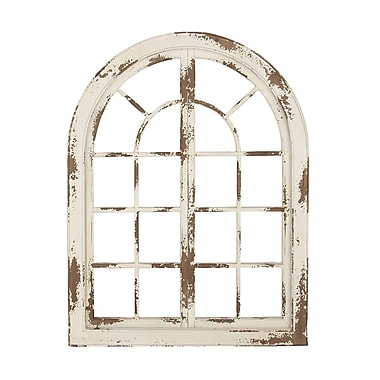 One Allium Way Traditional Arched Wooden Wall D cor; White