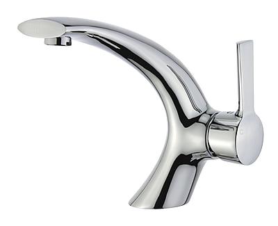 Legion Furniture UPC Single Hole Single Handle Bathroom Faucet w/ Drain Assembly; Polished Chrome