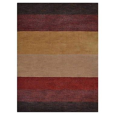 Bloomsbury Market Courbevoie Contemporary Hand-Knotted Wool Brown/Red Area Rug; 8' x 10'