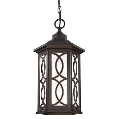 Bloomsbury Market Dewart 1-Light Outdoor Pendant; Antique Bronze