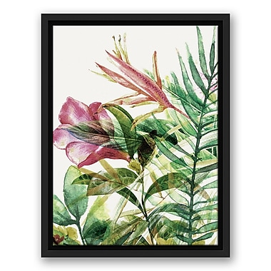 Bay Isle Home 'Tropical Plants' Framed Watercolor Painting Print on Canvas; 25.75'' H x 19.75'' W