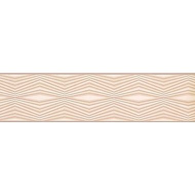 ChesapeakeWallcoverings Straight Lines Design 15' L x 6'' W Wallpaper Border; Brown/Beige