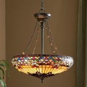 Loon Peak Diminic 4-Light Tiffany Inverted Pendant