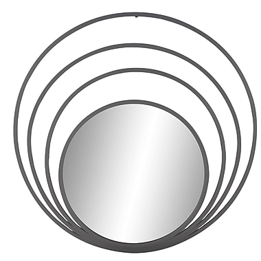 Orren Ellis Berna 36'' Contemporary Iron Concentric Accent Mirror; 48'' H x 48'' W x 1'' D