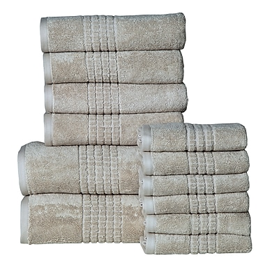 Brayden Studio Campbelltown 12 Piece Towel Set; Canvas