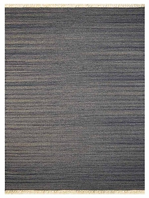 Bloomsbury Market Corwin Contemporary Hand-Woven Wool Silver Area Rug; 4' x 6'
