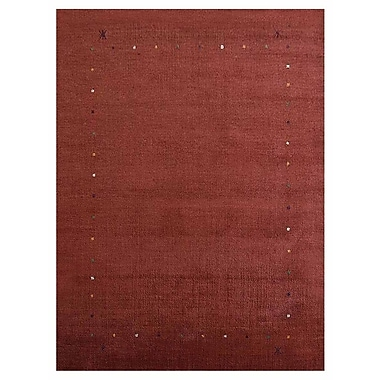 Bloomsbury Market Crannell Contemporary Hand-Knotted Wool Red Area Rug; 8' x 10'