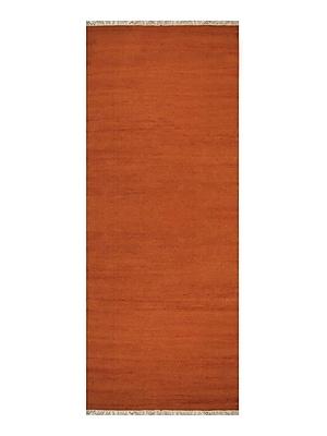 Bloomsbury Market Cotulla Contemporary Hand-Woven Wool Dark Orange Area Rug; Runner 3' x 13'