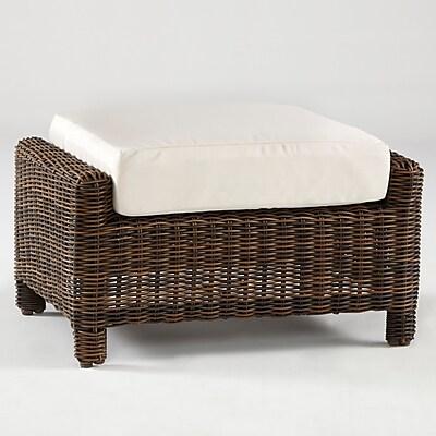 South Sea Rattan Del Ray Ottoman w/ Cushion; Cayenne