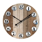 American Mercantile Oversized Cozy Cottage Pallet and Enamelware 32'' Wall Clock