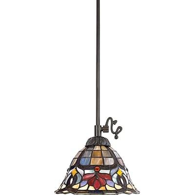 Astoria Grand Tadler 1-Light Tiffany Glass Pendant