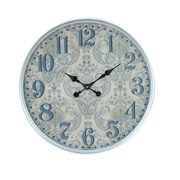 August Grove Elkland Traditional Iron Flourish-Designed Round 12'' Wall Clock; Large
