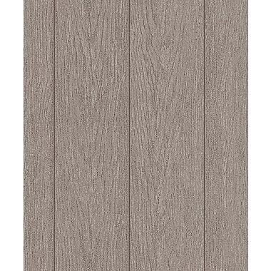 Erismann Brix Unlimited Wood Stone 33' x 21'' Distressed Wallpaper Roll; Brown