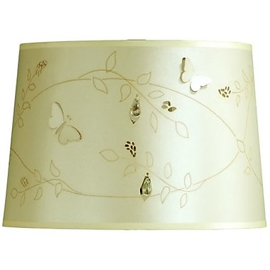 August Grove 14'' Linen Drum Lamp Shade