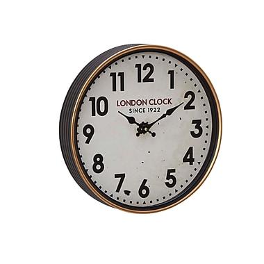 Alcott Hill Buren Vintage Iron London-Inspired Round 12'' Wall Clock; Medium