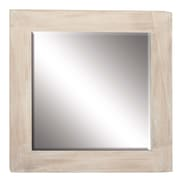 Darby Home Co Ballyclarc Contemporary Square Wooden Accent Mirror; 47'' H x 47''W x 1'' D