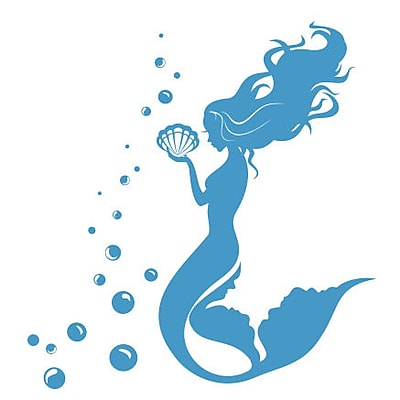 Decal House Mermaid Wall Decal; Ice Blue