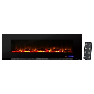 e-Flame LED Wall Mount Electric Fireplace Insert; 60''