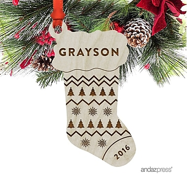 The Holiday Aisle Grayson Shaped Ornament w/ Gift Bag
