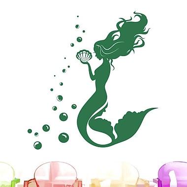 Decal House Mermaid Wall Decal; Green