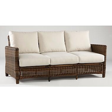 South Sea Rattan Del Ray Sofa w/ Cushions; Peridot