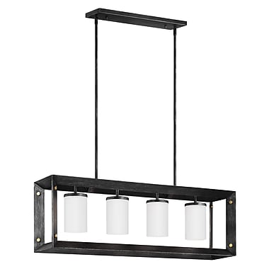 Gracie Oaks Galindo Modern 4-Light Kitchen Island Pendant; Stardust