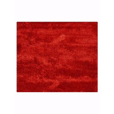 Everly Quinn Sophy Hand-Tufted Red Indoor Area Rug; Square 10' x 10'