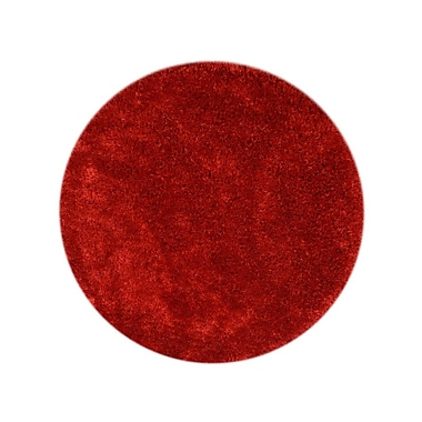 Everly Quinn Sophy Hand-Tufted Red Indoor Area Rug; Round 10' x 10'