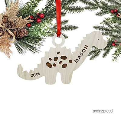 The Holiday Aisle Dinosaurs Shaped Ornament w/ Gift Bag