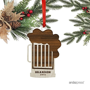 The Holiday Aisle Cup of Beer Shaped Ornament w/ Gift Bag