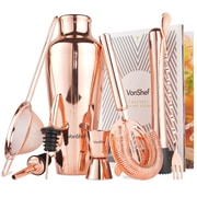 VonShef Parisian 9 Piece Bar Tool Set; Copper