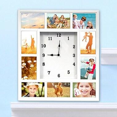 Red Barrel Studio White Collage Photo Frame Square Analog Clock