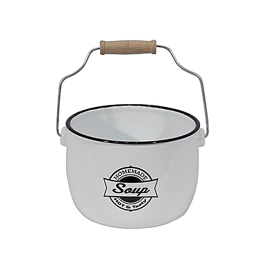 American Mercantile RoseHill Cottage Enamelware Soup Bowl