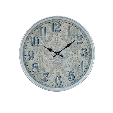 August Grove Elkland Traditional Iron Flourish-Designed Round 12'' Wall Clock; Medium