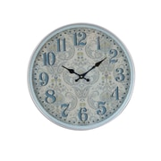 August Grove Elkland Traditional Iron Flourish-Designed Round 12'' Wall Clock; Medium